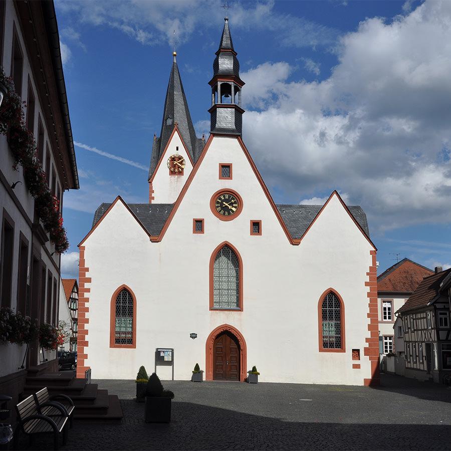 AvJS Personalvermittlung Babenhausen Kirche und Stadtplatz