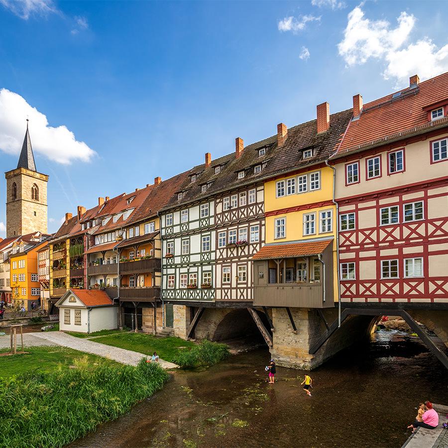AvJS Personalvermittlung – Erfurt historische Brücke mit Fachwerk