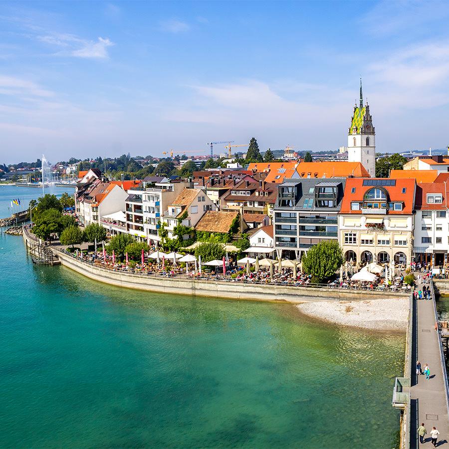 AvJS Sauter Personaldienstleister – Friedrichshafen Stadtufer mit Steg