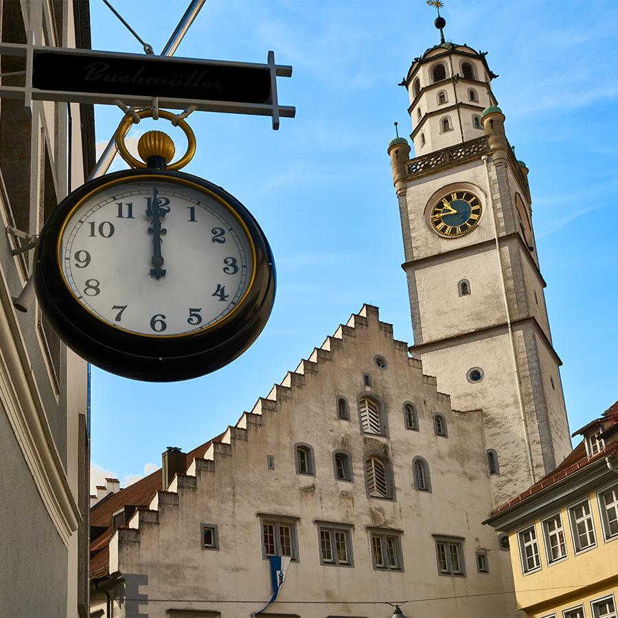 AvJS Sauter Personaldienstleister – Ravensburg Innenstadt Kirchturm mit Uhr