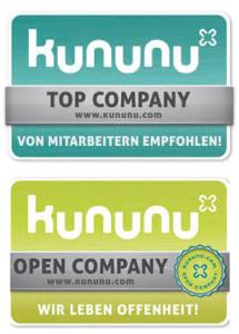 AvJS Personal Auszeichnung kununu Top Arbeitgeber und Open Company