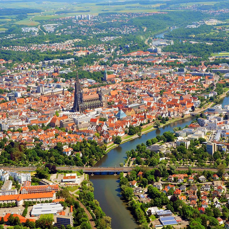 AvJS Senden – Innenstadt Luftaufnahme